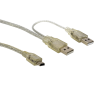 CABLE DOBLE USB A 5 PINES